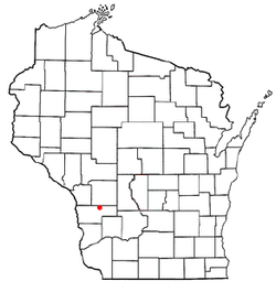 Location of Clinton, Vernon County, Wisconsin