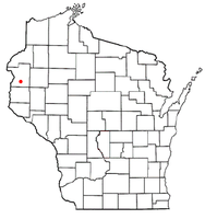 Location of Garfield, Polk County, Wisconsin