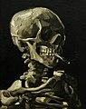 WLANL - wikiphotophile - Kop van een skelet met brandende sigaret, Vincent van Gogh, 1886.jpg