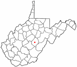 Location of Webster Springs, West Virginia