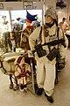 WW2 Norway Waffen SS uniform snow camouflage MP40 sami fur coat Luftwaffe uniforms etc Lofoten Krigsminnemuseum 2019 0369.jpg
