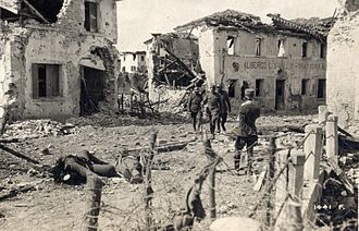 Nervesa della Battaglia - Image: WWI Nervesa after Italian forces retook it