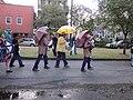 WWOZ 30th Birthday Parade Esplanade Avenue Umbrellas.JPG