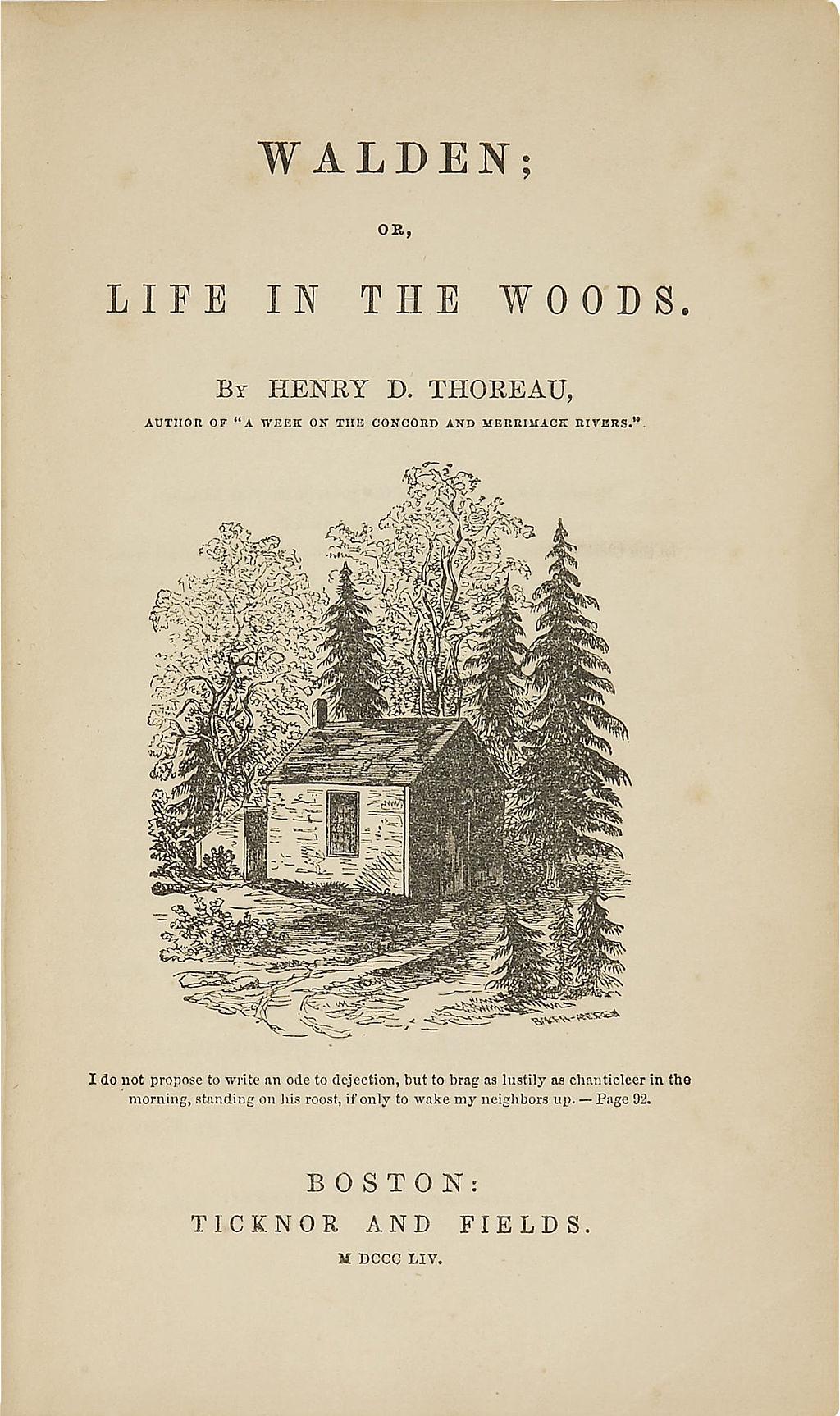 Thoreau Walden Einfachheit Simplicity