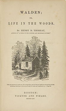 Titelpagina van Walden, or Life in the Woods.