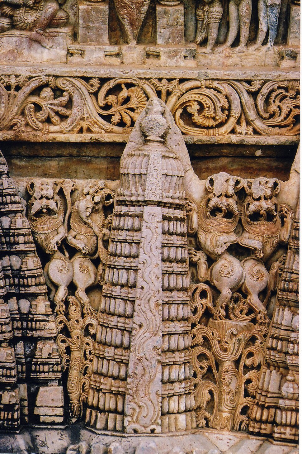 Wall Sculpture at Amrutesvara Temple in Chikkamagaluru district