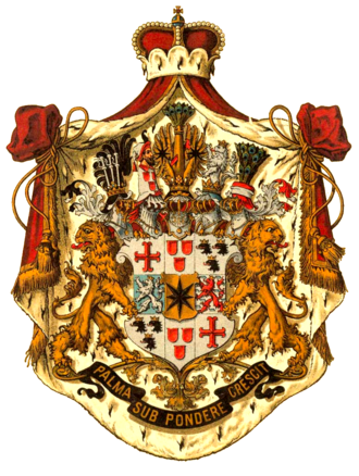 Josias, Hereditary Prince of Waldeck and Pyrmont - Coat of Arms of the Princely House of Waldeck and Pyrmont.