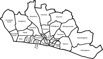 Brighton and Hove City Council - Image: Wardsold(names)