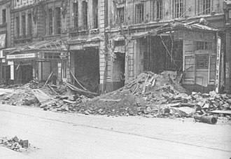 The Futurist Cinema, Liverpool - Damage done to two of Lime Street's cinemas on the night of 3/4 May 1941