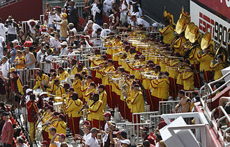 Hail to the Redskins - The Redskins are one of only three NFL teams to have a marching band.