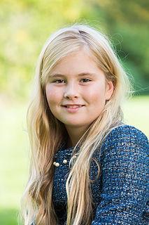 Catharina-Amalia, Princess of Orange eldest child of Willem-Alexander of the Netherlands; crown princess of the Netherlands