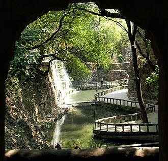 Nek Chand - Waterfall at Rock Garden, Chandigarh