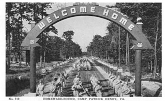 351st Infantry Regiment (United States) - Image: Welcome Home, Camp Patrick Henry, VA
