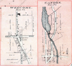 Plan of Welcome and Canton in 1878