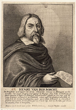 Ets door Wenceslaus Hollar in Het Gulden Cabinet, p 127
