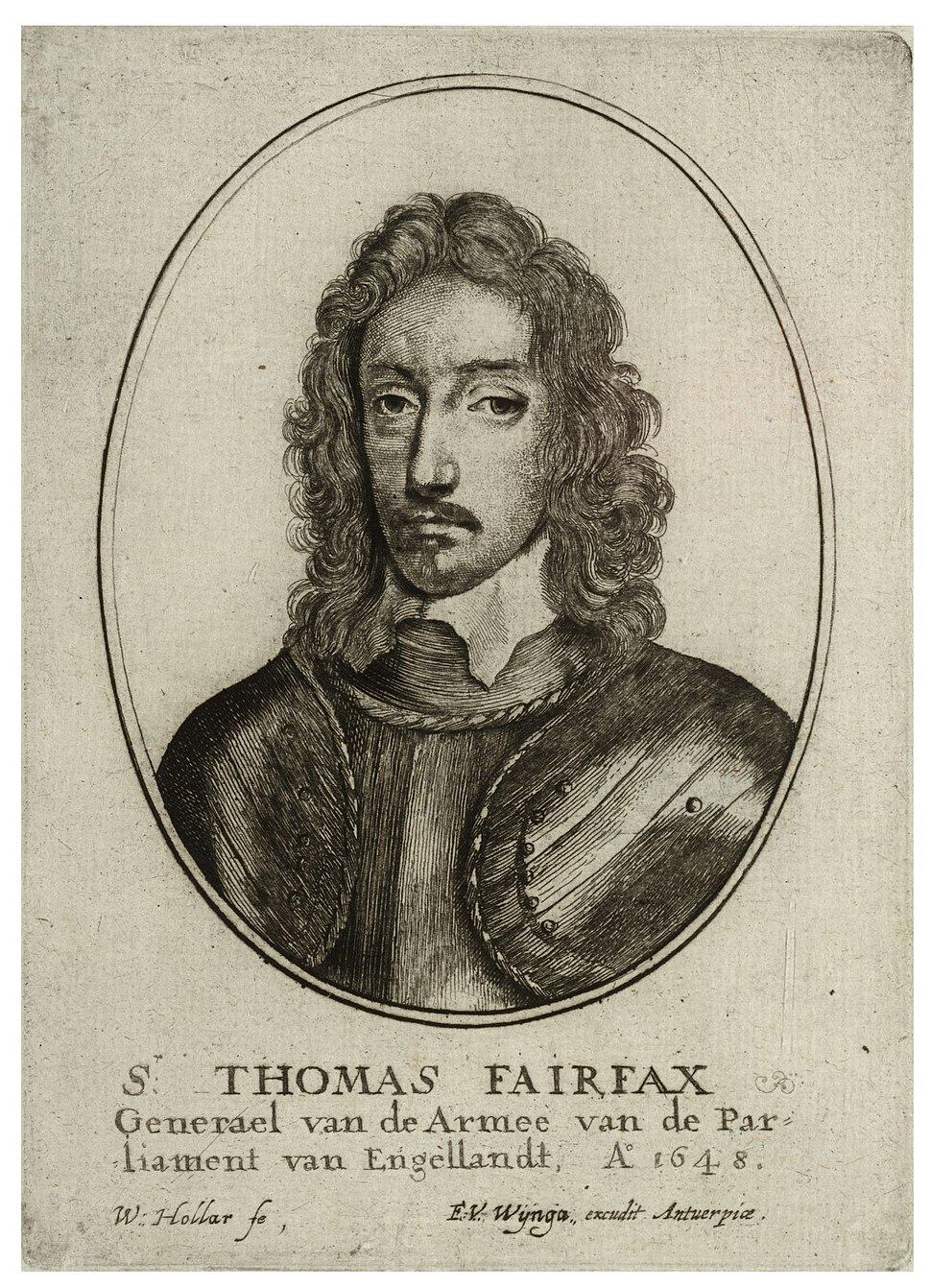 Wenceslas Hollar - Sir Thomas Fairfax (State 3)