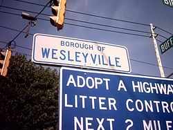 Wesleyville borough sign