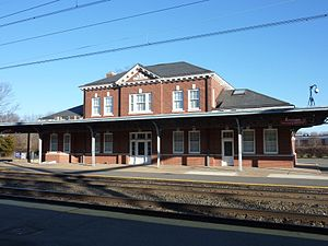West Trenton station - The station house from the tracks.