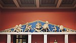 West pediment of the temple of Aphaia - replica in Pushkin museum 04 by shakko.jpg