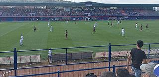 Veria Stadium building in Veroia, Central Macedonia, Greece