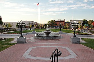 Westfield, Massachusetts - Downtown Westfield and Park Square