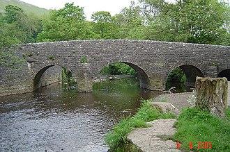 Wetton, Staffordshire - The bridge over the river Manifold at Wetton Mill