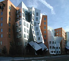 View of Stata Center from Vassar street