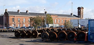 Kilmarnock - Wabtec Rail, formerly Andrew Barclay Sons & Co., maintains a strong workforce in the town centre