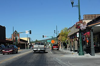 Whitefish, Montana - US 93 through Whitefish