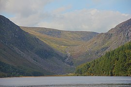 Wicklow Mountains National Park Glendalough Valley Upper Lake 07.JPG