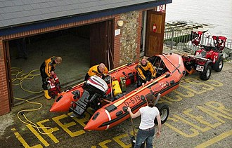 D-class lifeboat (EA16) - RNLB Inbhear Deas (D-518), which is now part of the Flood Rescue team.
