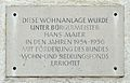 Widmungstafel Wohnanlage, Watzmannstraße, Oberndorf.jpg