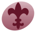 WikiProject Scouting fleur-de-lis burgundy.png