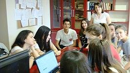 Wiki Club Skopje, working day 1.jpg