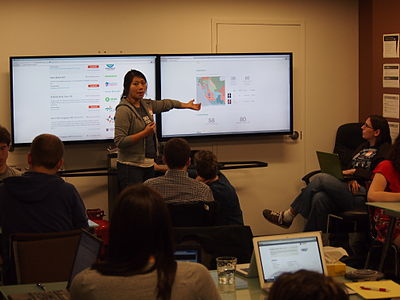 Amy Ngai of the Sunlight Foundation delivering a presentation at the Open Government WikiHack