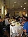 Wikimania 2011, Central and Eastern European Wikimedia lunch.JPG