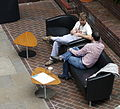 Wikimania 2014 attendees in the Barbican conservatory at 10-50am on Friday.jpg