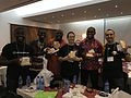 Wikipack Africa recipients at Wiki Indaba 2017.jpg