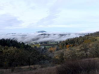 Willamette Valley - Light fog in the southern valley