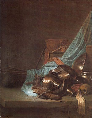Willem de Poorter - Still life with armour.