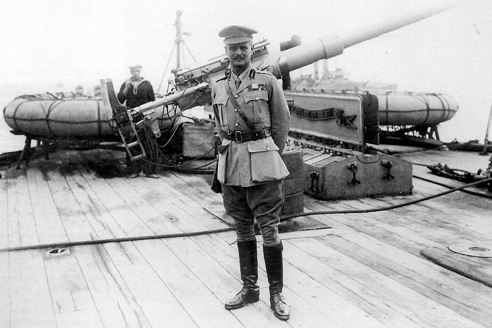 William Birdwood on battleship