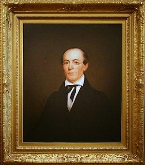 Massachusetts Anti-Slavery Society - William Lloyd Garrison, 1833, Oil on wood by Nathaniel Jocelyn.