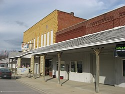 Businesses in Willshire's downtown