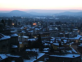 Mendrisio during the winter