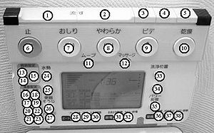 Wireless toilet control panel w. open lid Numbered Buttons.jpg