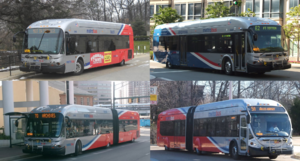 Metrobus (Washington, D.C.) - The Washington Metropolitan Area Transit Authority recently purchased BRT buses that are painted in the new Local and Express paint schemes.