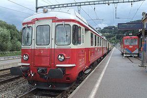 Rheineck railway station - Image: Wohlen–Meisterschwan den Bahn B De 44