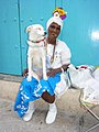 Woman in Traditional Clothes with Dog - Habana Vieja - Havana - Cuba.jpg