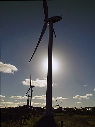 Wonthaggi - Wonthaggi Wind Farm In The Evening, Campbell Street