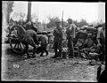 World War I soldiers filling water bottles near Ploegsteert Wood (21017912374).jpg